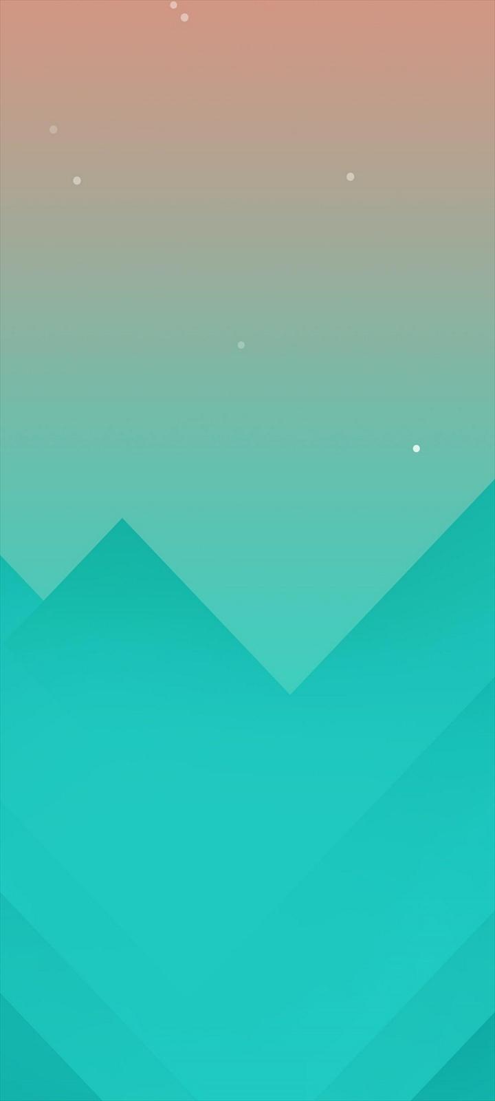 シンプルな空と山のイラスト Oppo A5 Androidスマホ壁紙 待ち受け スマラン