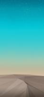 水色の銀河とポリゴンの砂漠 Redmi Note 9T Androidスマホ壁紙・待ち受け