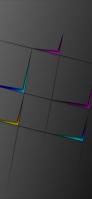 紫 青 黄の矢印 黒地 Redmi Note 9T Androidスマホ壁紙・待ち受け