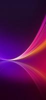 紫 濃淡 グラデーション ピンク・黄のライン Redmi Note 9T Androidスマホ壁紙・待ち受け