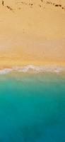 Midsummer green sea and sandy beach Redmi 9T Android スマホ壁紙・待ち受け