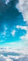 綺麗な青く澄んだ空と白い雲 Redmi Note 9T Androidスマホ壁紙・待ち受け