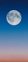 グラデーションの空と綺麗な満月 Redmi Note 9T Androidスマホ壁紙・待ち受け