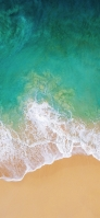 Shading green sea and sandy beach Redmi 9T Android スマホ壁紙・待ち受け