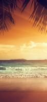 夕焼け オレンジに染まる空 綺麗な海 Galaxy A30 Android 壁紙・待ち受け
