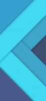 青系の段差 Redmi Note 9T Androidスマホ壁紙・待ち受け