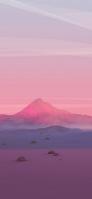 ピンク ポリゴンの山 荒野 Redmi Note 9T Androidスマホ壁紙・待ち受け