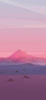 ピンク 景観 ポリゴンの山 Galaxy A30 Android 壁紙・待ち受け