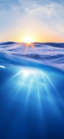 太陽の光 青い海 Redmi Note 9T Androidスマホ壁紙・待ち受け