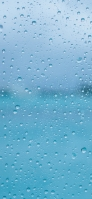 青色のガラス面 水滴 Redmi Note 9T Androidスマホ壁紙・待ち受け