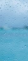 向こうが透けた透明のガラス 水滴 Galaxy A30 Android 壁紙・待ち受け