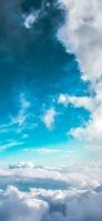 水色の空と雲海 iPhone 11 Pro スマホ壁紙・待ち受け