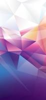 淡い紫・ピンク・白のポリゴン iPhone 11 Pro スマホ壁紙・待ち受け