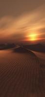 夕暮れ時の砂漠 iPhone 11 Pro スマホ壁紙・待ち受け