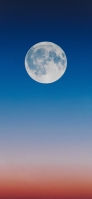 群青の空 満月 iPhone 11 Pro スマホ壁紙・待ち受け