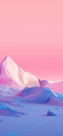 ピンク ポリゴンの風景 iPhone 11 Pro スマホ壁紙・待ち受け