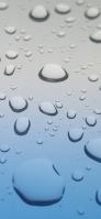 沢山の水滴がついた水色のガラス iPhone 11 Pro スマホ壁紙・待ち受け