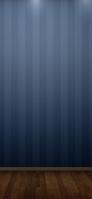 紺のストライプの壁と木目調の床 iPhone 11 Pro スマホ壁紙・待ち受け