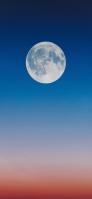 青とオレンジの空 満月 iPhone 12 Pro スマホ壁紙・待ち受け
