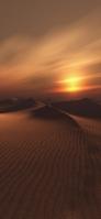 夕日 サハラ砂漠 iPhone 12 Pro スマホ壁紙・待ち受け
