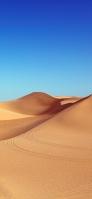 綺麗な青空と砂漠 2輪の跡 iPhone 12 Pro スマホ壁紙・待ち受け