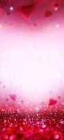 赤いハートのキラキラ iPhone 12 スマホ壁紙・待ち受け