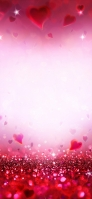 可愛い赤いハートのキラキラ iPhone 12 Pro スマホ壁紙・待ち受け