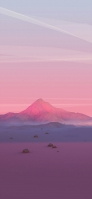 ポリゴンの山 閑散とした土地 iPhone 12 スマホ壁紙・待ち受け