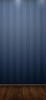 青のストライプ ウッドフロアー iPhone 12 スマホ壁紙・待ち受け