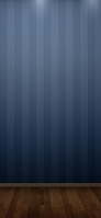 ライトアップされた青のストライプ 木の床 iPhone 12 Pro スマホ壁紙・待ち受け