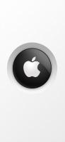 白地 黒と白のアップルロゴ iPhone 12 スマホ壁紙・待ち受け
