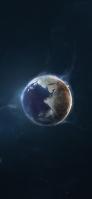 宇宙 地球 ミニマル iPhone 12 スマホ壁紙・待ち受け