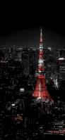 夜の東京タワー iPhone 12 スマホ壁紙・待ち受け