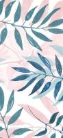 緑・ピンクの草 iPhone 12 スマホ壁紙・待ち受け
