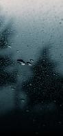 水滴がついた黒いガラス iPhone 12 スマホ壁紙・待ち受け