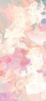 ピンクや白のアブストラクト iPhone 12 スマホ壁紙・待ち受け