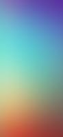 青色とオレンジの淡いグラデーション iPhone 12 スマホ壁紙・待ち受け