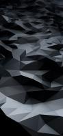 黒・灰色のランダムなポリゴン iPhone 12 スマホ壁紙・待ち受け