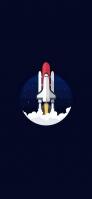 スペースシャトルのイラスト iPhone 12 スマホ壁紙・待ち受け
