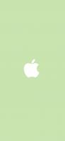 パステルカラー 緑 可愛いアップルのロゴマーク iPhone 12 Pro スマホ壁紙・待ち受け