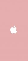 パステルカラー ピンク アップルのロゴマーク iPhone 12 スマホ壁紙・待ち受け