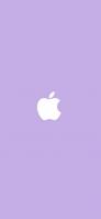 パステルカラー 紫 アップルのロゴマーク iPhone 12 スマホ壁紙・待ち受け