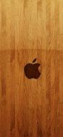 綺麗な木の板 Apple ロゴ iPhone 11 Pro Max スマホ壁紙・待ち受け