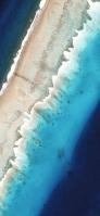 俯瞰視点のビーチ iPhone 11 Pro Max スマホ壁紙・待ち受け