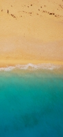 上から撮影した浜辺と砂浜 iPhone 11 Pro Max スマホ壁紙・待ち受け