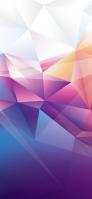 白・ピンク・青の綺麗なグラデーションのポリゴン iPhone 11 Pro Max スマホ壁紙・待ち受け
