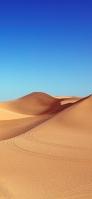 澄んだ空と砂漠 iPhone 11 Pro Max スマホ壁紙・待ち受け