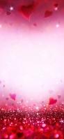 ピンクのハート・キラキラ iPhone 11 Pro Max スマホ壁紙・待ち受け