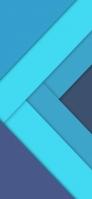 青の段差があるテクスチャー iPhone 11 Pro Max スマホ壁紙・待ち受け