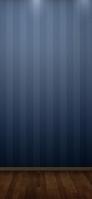 青いストライプ 木の床 iPhone 11 Pro Max スマホ壁紙・待ち受け